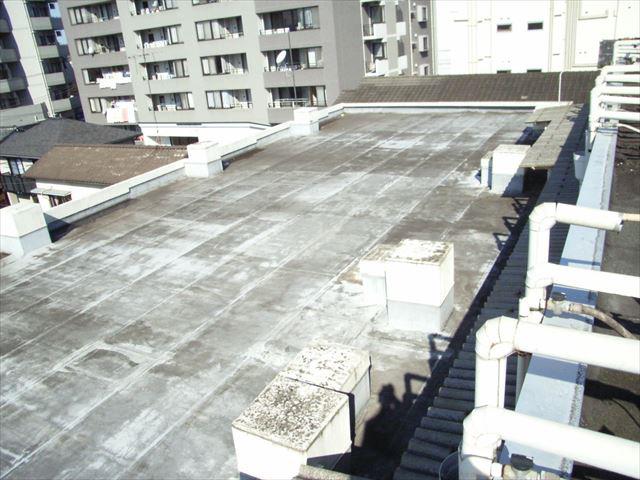 マンション屋上 防水改修工事前